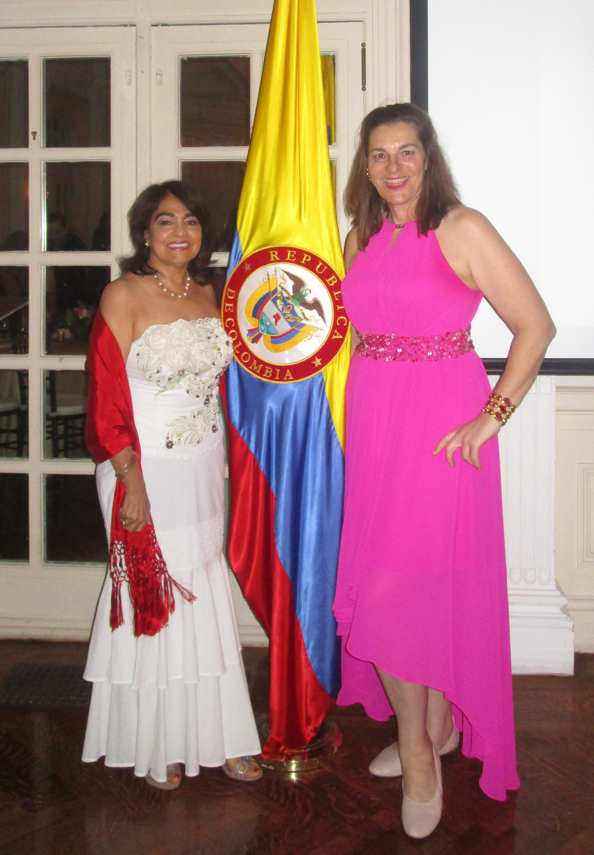 Sheila and Joanna at Colombian Residence