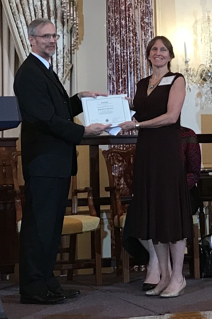 Patricia receives award