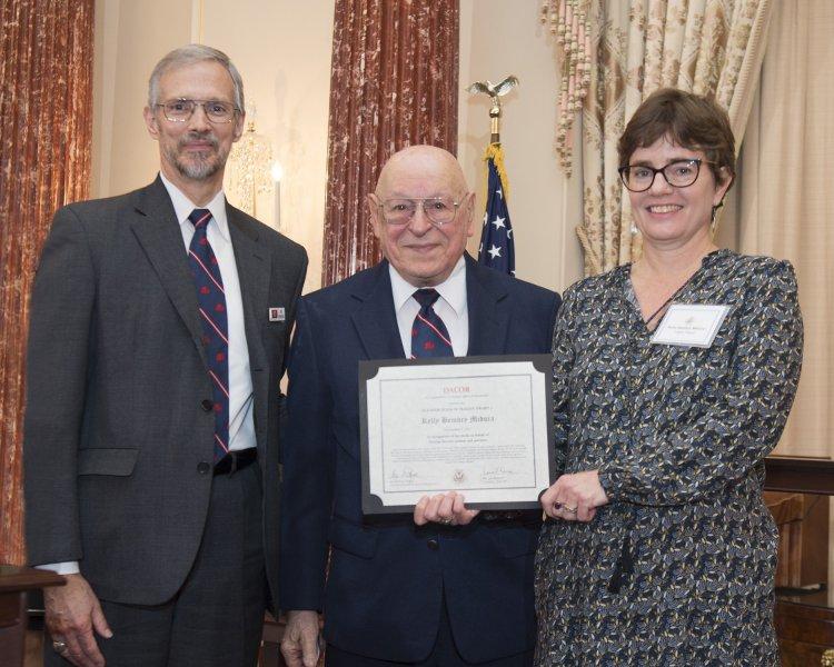 DACOR President, Irving Tragen, Kelly Bembry Midura